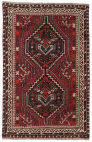 Shiraz Tappeto 81X124 Orientale Fatto A Mano Rosso Scuro/Marrone Scuro (Lana, Persia/Iran)