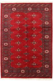 Pakistan Buchara 2Ply Teppich  125X184 Echter Orientalischer Handgeknüpfter Rot/Dunkelrot (Wolle, Pakistan)
