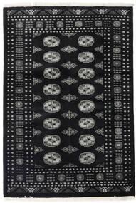 Pakistan Bokhara 2Ply Matto 124X183 Itämainen Käsinsolmittu Musta/Tummanharmaa (Villa, Pakistan)