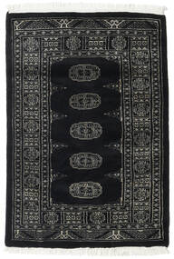 Pakistan Bokhara 2Ply Rug 77X130 Authentic  Oriental Handknotted Black/Dark Grey (Wool, Pakistan)