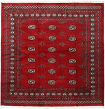 Pakistan Bokhara 2Ply Rug 207X208 Authentic  Oriental Handknotted Square Crimson Red/Dark Red (Wool, Pakistan)