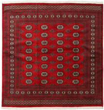 Pakistan Bokhara 2Ply Rug 202X207 Authentic Oriental Handknotted Square Dark Red/Crimson Red (Wool, Pakistan)