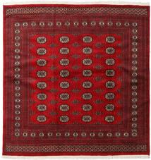 Pakistański Bucharski 2Ply Dywan 202X207 Orientalny Tkany Ręcznie Kwadratowy Ciemnoczerwony/Czerwony (Wełna, Pakistan)