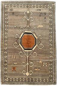 Kaszkaj Dywan 158X239 Orientalny Tkany Ręcznie Jasnoszary/Ciemnobrązowy/Jasnobrązowy (Wełna, Persja/Iran)