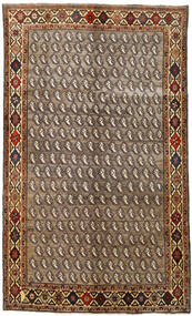 Qashqai Rug 155X258 Authentic  Oriental Handknotted Light Brown/Dark Brown (Wool, Persia/Iran)