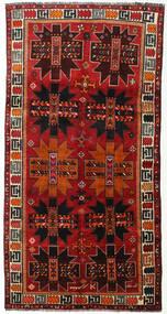 Ghashghai Matta 142X279 Äkta Orientalisk Handknuten Hallmatta Mörkröd/Mörkbrun/Roströd (Ull, Persien/Iran)