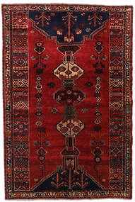 Qashqai Rug 158X235 Authentic  Oriental Handknotted Dark Red/Dark Brown (Wool, Persia/Iran)