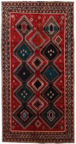 カシュガイ 絨毯 145X278 オリエンタル 手織り 廊下 カーペット 濃い茶色/深紅色の (ウール, ペルシャ/イラン)