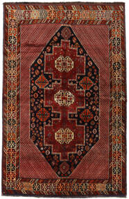 Qashqai Rug 157X243 Authentic  Oriental Handknotted Dark Red (Wool, Persia/Iran)