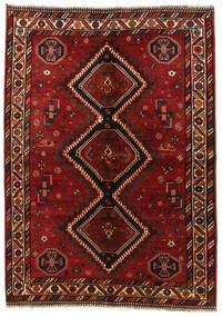 Qashqai Rug 158X225 Authentic  Oriental Handknotted Dark Red/Crimson Red (Wool, Persia/Iran)