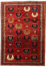 Ghashghai Matta 185X263 Äkta Orientalisk Handknuten Roströd/Mörkröd (Ull, Persien/Iran)