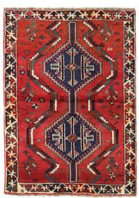 Shiraz Rug 110X152 Authentic  Oriental Handknotted Dark Red/Rust Red (Wool, Persia/Iran)
