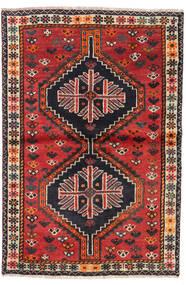Shiraz Rug 106X156 Authentic  Oriental Handknotted Dark Brown/Rust Red (Wool, Persia/Iran)