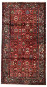 Hamadan Teppe 108X200 Ekte Orientalsk Håndknyttet Mørk Rød/Mørk Brun (Ull, Persia/Iran)