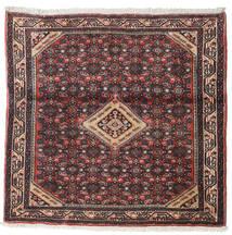 Asadabad Tæppe 102X105 Ægte Orientalsk Håndknyttet Kvadratisk Mørkebrun/Brun (Uld, Persien/Iran)