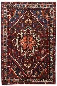 Bachtiar Teppich  140X210 Echter Orientalischer Handgeknüpfter Schwartz/Dunkelrot (Wolle, Persien/Iran)