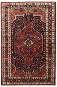 Hamadan Rug 130X200 Authentic  Oriental Handknotted Dark Red/Dark Brown (Wool, Persia/Iran)