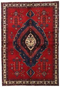 Afshar Teppe 160X230 Ekte Orientalsk Håndknyttet Mørk Rød/Mørk Blå/Rød (Ull, Persia/Iran)