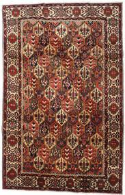 Baktjar Dywan 202X316 Orientalny Tkany Ręcznie Ciemnobrązowy/Ciemnoczerwony (Wełna, Persja/Iran)