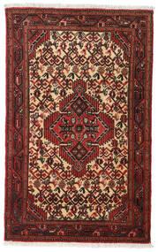 Asadabad Matto 78X124 Itämainen Käsinsolmittu Tummanpunainen (Villa, Persia/Iran)