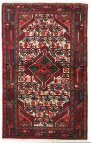 Asadabad Koberec 83X130 Orientální Ručně Tkaný Tmavě Červená/Černá (Vlna, Persie/Írán)