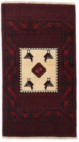 Beluch Covor 81X145 Orientale Lucrat Manual Roșu-Închis (Lână, Persia/Iran)