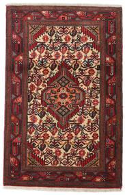 Asadabad Teppe 80X123 Ekte Orientalsk Håndknyttet Mørk Rød/Mørk Brun (Ull, Persia/Iran)