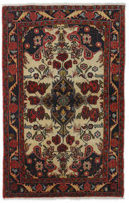 Mehraban Tæppe 83X129 Ægte Orientalsk Håndknyttet Mørkerød/Mørkebrun (Uld, Persien/Iran)