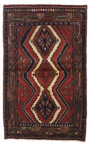 Hamadan Χαλι 79X127 Ανατολής Χειροποιητο Σκούρο Κόκκινο/Μαύρα (Μαλλί, Περσικά/Ιρανικά)