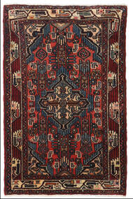 Asadabad Rug 80X120 Authentic  Oriental Handknotted Black/Dark Red (Wool, Persia/Iran)