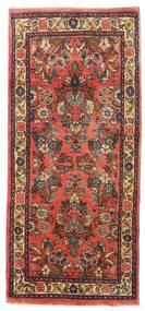 Sarough Koberec 63X142 Orientální Ručně Tkaný Běhoun Tmavě Hnědá/Červenožlutá (Vlna, Persie/Írán)