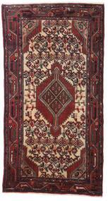 Hamadan Matto 74X140 Itämainen Käsinsolmittu Tummanpunainen/Musta (Villa, Persia/Iran)