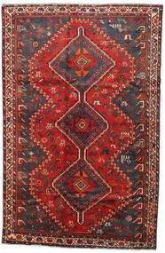 Shiraz Rug 161X246 Authentic  Oriental Handknotted Dark Red/Rust Red (Wool, Persia/Iran)
