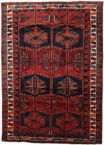 Lori Matta 186X257 Äkta Orientalisk Handknuten Mörkröd/Svart (Ull, Persien/Iran)