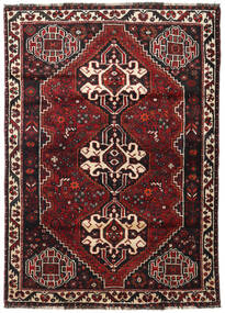Shiraz Vloerkleed 117X166 Echt Oosters Handgeknoopt Donkerrood/Zwart (Wol, Perzië/Iran)