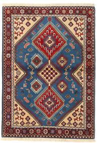 Yalameh Matto 102X142 Itämainen Käsinsolmittu Tummanpunainen/Tummanvioletti (Villa, Persia/Iran)