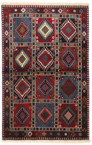 Yalameh Rug 100X154 Authentic Oriental Handknotted Dark Red/Black (Wool, Persia/Iran)