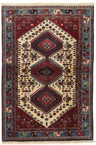 Yalameh Tapis 103X152 D'orient Fait Main Rouge Foncé/Noir (Laine, Perse/Iran)