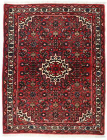 Hamadan Χαλι 113X142 Ανατολής Χειροποιητο Σκούρο Κόκκινο/Σκούρο Καφέ (Μαλλί, Περσικά/Ιρανικά)