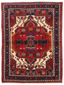 Hamadan Χαλι 110X148 Ανατολής Χειροποιητο Σκούρο Μωβ/Σκούρο Κόκκινο (Μαλλί, Περσικά/Ιρανικά)