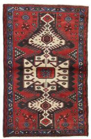 Hamadan Χαλι 100X158 Ανατολής Χειροποιητο Σκούρο Κόκκινο/Μαύρα (Μαλλί, Περσικά/Ιρανικά)