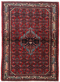 Hamadan Χαλι 108X153 Ανατολής Χειροποιητο Σκούρο Κόκκινο (Μαλλί, Περσικά/Ιρανικά)