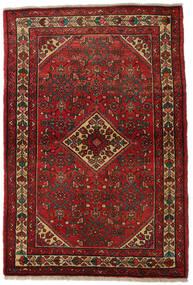 Hamadan Χαλι 110X164 Ανατολής Χειροποιητο Σκούρο Κόκκινο/Σκούρο Καφέ (Μαλλί, Περσικά/Ιρανικά)