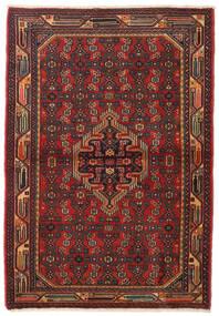 ハマダン 絨毯 108X155 オリエンタル 手織り 深紅色の/濃い茶色 (ウール, ペルシャ/イラン)