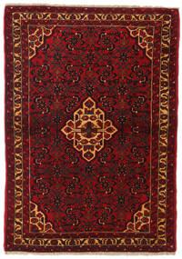 Hamadan Rug 110X158 Authentic  Oriental Handknotted Dark Red/Crimson Red (Wool, Persia/Iran)