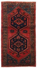 Hamedan Koberec 80X150 Orientální Ručně Tkaný Tmavě Červená/Černá (Vlna, Persie/Írán)