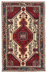 Hamadan Χαλι 82X130 Ανατολής Χειροποιητο Σκούρο Καφέ/Σκούρο Κόκκινο (Μαλλί, Περσικά/Ιρανικά)