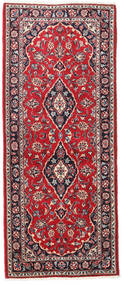 Keshan Rug 80X195 Authentic  Oriental Handknotted Hallway Runner  Crimson Red/Dark Purple (Wool, Persia/Iran)