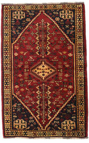 Qashqai Rug 108X169 Authentic  Oriental Handknotted Dark Brown/Dark Red (Wool, Persia/Iran)