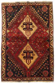 Ghashghai Matto 105X158 Itämainen Käsinsolmittu Tummanpunainen/Musta (Villa, Persia/Iran)